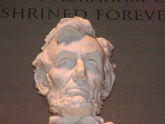 Close-up of Abraham Lincoln statue at the Lincoln Memorial - Click for larger image (http://jamesmcgillis.com)