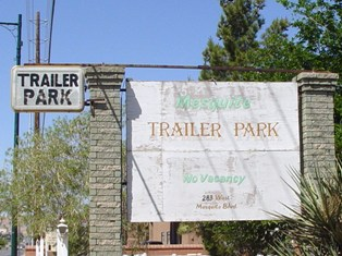 Old Trailer Park Sign, Mesquiite, Nevada - Click for alternate, larger image (http://jamesmcgillis.com)