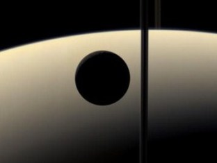 View of Saturn and one moon - Click for larger image (http://jamesmcgillis.com)