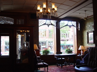 Inside th lobby of the historic Strater Hotel, Durango, Colorado - Click for larger image (http://jamesmcgillis.com)