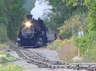 "The color of coal smoke - Narrow Gauge Durango & Silverton Railroad Locomotive No. 481. The steam engine is ""pulling the grade"" over hand-laid tracks in the Upper Animas Valley, near Durango, Colorado - Click for larger image (https://jamesmcgillis.com)"