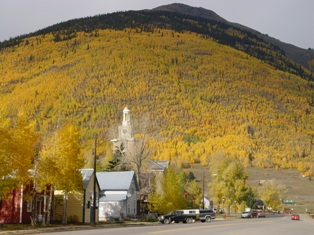 Main Street with fall color, Silverton, Colorado - Click for larger image (http://jamesmcgillis.com)