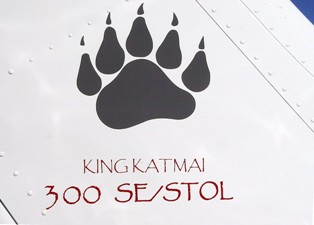Black bear claw logo on the tail of Cessna 182 conversion to a King Katmai 300 - Click for larger image (http://jamesmcgillis.com)