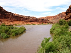 The Colorado Riverway, looking north from Moab toward Negro Bill Canyon - Click for larger image (http://jamesmcgillis.com)