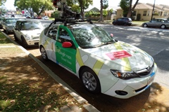 Google Streetview cars often deploy new Google technology, including features expected on the Google Pop Car, an autonomous railroad safety vehicle - Click for larger image (http://jamesmcgillis.com)