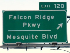 On Interstate I-15, Exit 120 leads to the town of Mesquite, Nevada - Click for larger image (http://jamesmcgillis.com)