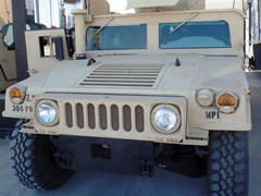 An Army Reserve Humvee stops for fuel in Barstow, California - Click for larger image (https://jamesmcgillis.com)