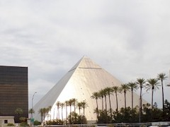 The Luxor Hotel Las Vegas glows in the reflection of afternoon sunlight - Click for larger image (http://jamesmcgillis.com)