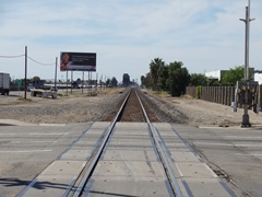 Eighty feet west of this intersection at Rice Ave. and Fifth St. in Oxnard, California, Metrolink Train No. 102 collided with a work truck and trailer abandoned there - Click for larger image (http://jamesmcgillis.com)