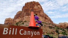 As a compromise, Plush Kokopelli and Coney the Traffic Cone suggest calling the place Bill Canyon - Click for larger image (http://jamesmcgillisa.com)