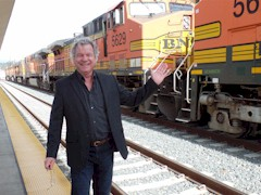 "The author (James McGillis) discovers sixteen BNSF freight locomotives ""hiding in plain sight"" at Los Angeles Union Station in December 2015 - Click for larger image (http://jamesmcgillis.com)"