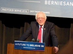 In his Henderson, Nevada campaign speech, Bernie Sanders advocated for the return of rooftop solar to Nevada, where SolarCity alone lost 550 jobs - Click for larger image (http://jamesmcgillis.com)