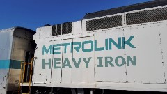 In 2016, Metrolink added freight locomotives to every train set, causing premature wear on braking systems - Click for larger image (http://jamesmcgillis.com)