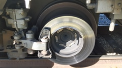 Close inspection of the brake rotors on Metrolink's Hyundai-Rotem coaches shows thermal fatigue cracks and heat checking on the surface of the rotors - Click for larger image (http://jamesmcgillis.com)