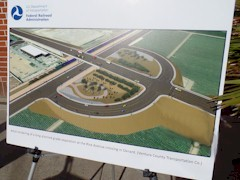 An artists rendering of the proposed grade separation at Fifth Street and Rice Ave. in Oxnard, California - Click for larger image (htp://jamesmcgillis.com)