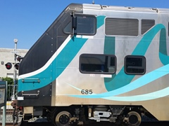 This Hyundai-Rotem cabcar should not be leading a Metrolink train because of safety issues - Click for larger image (http://jamesmcgillis.com)