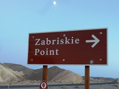 After moon-rise, the Zabriskie Point sign is easier to locate - Click for larger image (http://jamesmcgillis.com)