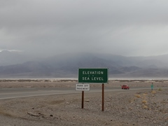 Looking from the Furnace Creek Inn toward Telescope Peak in February 2017, dust from a wind vortex lifted to create rainfall in Death Valley - Click for larger image (http://jamesmcgillis.com)