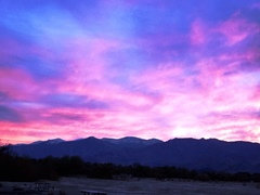 An early sunset at Furnace Creek Campground, in December 2019 - Click for larger image (https://jamesmcgillis.com)