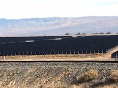 Solar Farms, many owned by the Los Angeles Department of Water & Power cover thousands of acres in the Mojave Desert - Click for larger image (http://jamesmcgillis.com)