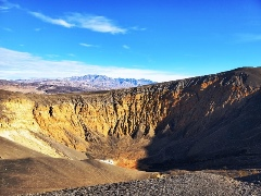 At an estimated age of approximately 2,000 years, Ubehebe Crater, in Death Valley National Park is one of the youngest volcanic explosion sites in the Western United States -  Click for larger image (http://jamesmcgillis.com)