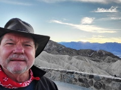 Author, Jim McGillis at sundown, at Zabriskie Point, Death Valley, California - Click for larger image (https://jamesmcgillis.com)
