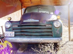 1950 Chevrolet 3100 half-ton pickup truck in storage at Moab, Utah - Click for larger image (https://jamesmcgillis.com)