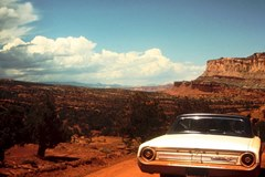 1965 Ektachrome slide of our Ford Galaxy 500 XL at Arches National Monument - Click for larger image (http://jamesmcgillis.com)