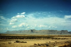 1965 Kodak Ektachrome slide of the Book Cliffs, taken from current U.S. Highway 191, near Arches National Monument - Click for larger image (http://jamesmcgillis.com)