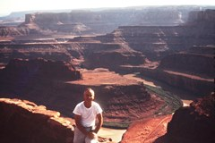 The author's father, Dr. Loron N. Duke McGillis at Dead Horse Point in 1965 - Click for larger image (http://jamesmcgillis.com)
