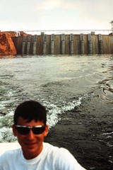 The author, Jim McGillis at age seventeen, on Lake Powell near Glen Canyon Dam - Click for larger image (http://jamesmcgillis.com)