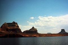 The lower reaches of Lake Powell, where the first Planet of The Apes movie was filmed, as seen in 1965 - Click for larger image (http://jamesmcgillis.com)