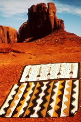 Two Navajo rugs purchased in 1965  at Goulding's Trading Post in Monument Valley - Click for larger image (http://jamesmcgillis.com)