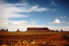 1965 image of Sentinel Butte and West Mitten Butte in Monument Valley - Click for larger image (http://jamesmcgillis.com)