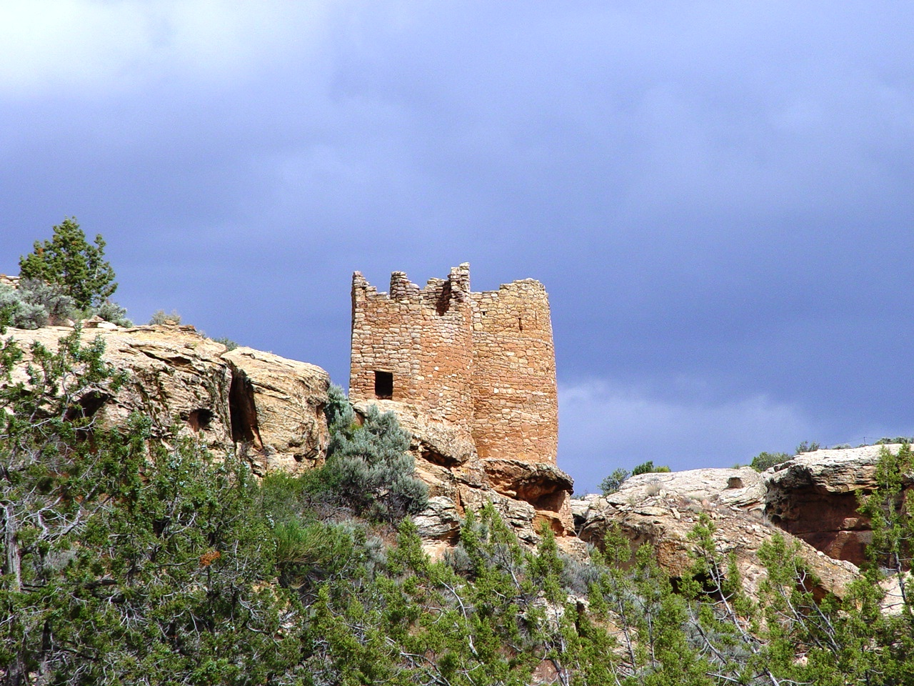 Twin Towers in morning sunlight, Hovenweep (https://jamesmcgillis.com)