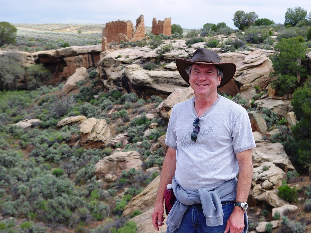 The author, James McGillis, with Hovenweep Castle in background - Click for larger image (http://jamesmcgillis.com)