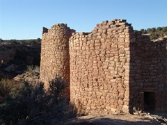 Ancient and original Twin Towers stand at Little Ruin Canyon, Hovenweep National Monument, Utah - Click for larger image (http://jamesmcgillis.com)