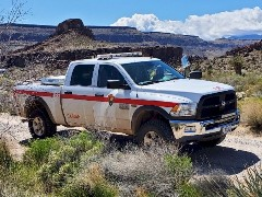 This Cal Fire pickup truck served double duty as a ranger vehicle at the Mojave National Preserve - Click for larger image (https://jamesmcgillis.com)