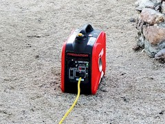 My portable generator is great for recharging the house batteries on my RV after a full day of use - Click for larger image (https://jamesmcgillis.com)