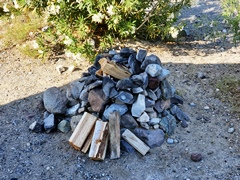 A natural stone fire ring prepared for a campfire at Panamint Springs Resort, near Death Valley National Park - Click for larger image (http://jamesmcgillis.com)
