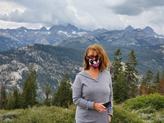 Carrie McCoy at the Minaret Vista Point in June 2020 - Click for larger image (https://jamesmcgillis.com)