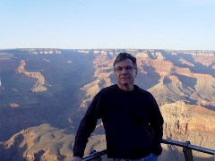 The author, Jim McGillis on a hazy afternoon at the Grand Canyon in 2007 - Click for larger image (http://jamesmcgillis.com)