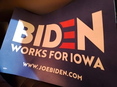 A Biden Works For Iowa poster that I picked up in Nevada - Click for larger Image (http://jamesmcgillis.com)