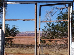 The window of clean-air opportunity closes at the ruins of Cow Springs Trading Post, located near Peabody Energy's Black Mesa strip-mine - Click for larger image (http://jamesmcgillis.com)