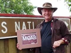 "Author James McGillis was too late to save the original ""Moab Sign"" - Click for larger image (https://jamesmcgillis.com)"