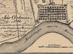From 1798 - A map of an older, smaller New Orleans - Click for larger image (http://jamesmcgillis.com)