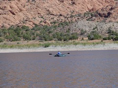 Lone angler paddles across Ken's Lake in October 2011 - Click for larger image (http://jamesmcgillis.com)