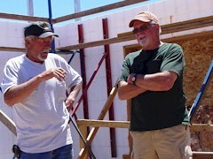 Jim Farrell (Right) and the construction foreman at the home designed by Mr. Farrell - Click for larger image (http://jamesmcgillis.com)