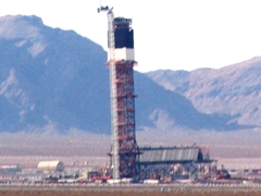 "All three Brightsource energy Ivanpah solar project receiving towers are visible when you ""click for larger image"" (http://jamesmcgillis.com)"