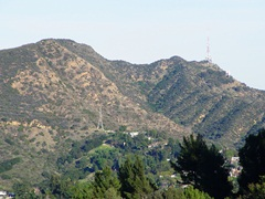 "Mt. Lee, with the ""H"" in the Hollywood sign visible on the right side of the image - Click for larger image (http://jamesmcgillis.com)"